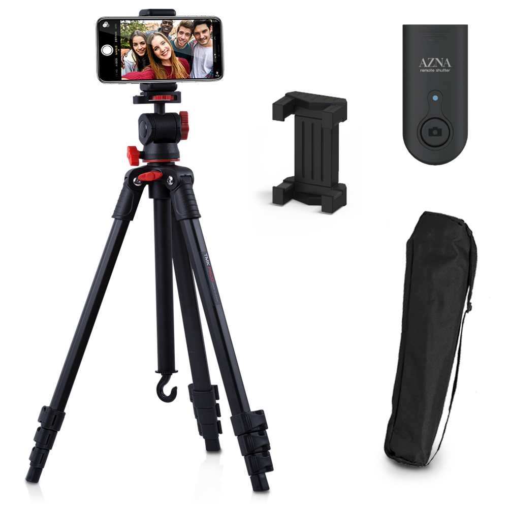 아즈나 미러리스 카메라 스마트폰 삼각대 풀세트 블랙, P400