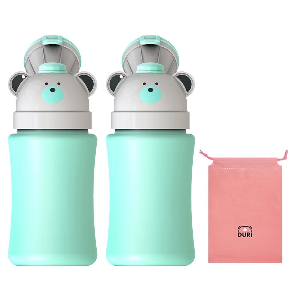 두리 휴대용 남아용 소변기 2p + 방수파우치, 민트