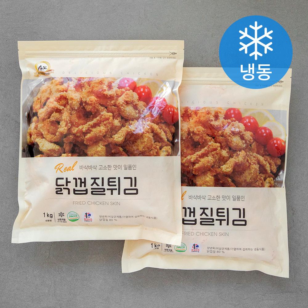 상도푸드 닭껍질튀김 (냉동), 1kg, 2개