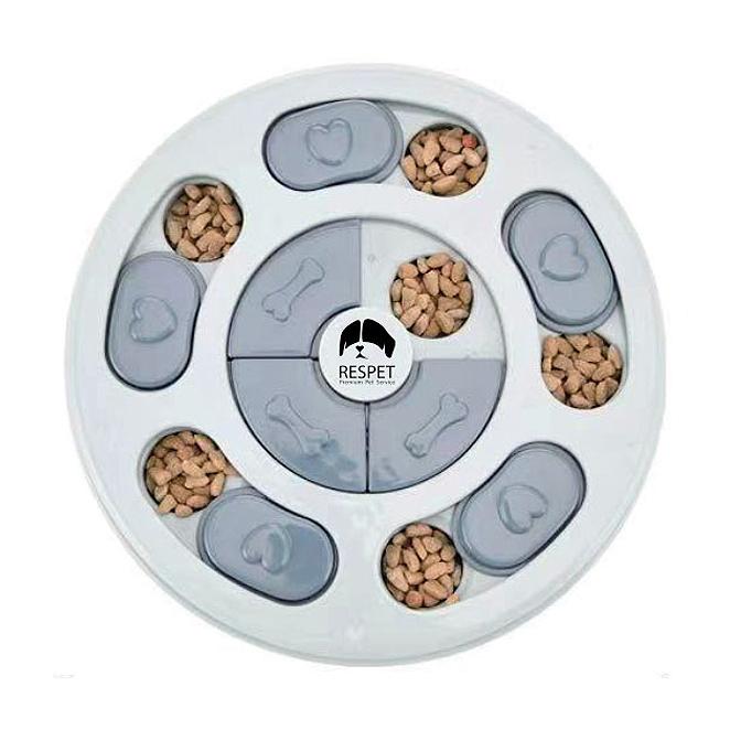 리스펫 강아지 노즈워크 지능개발 퍼즐 장난감 원형 24 x 24 cm, 블루, 1개