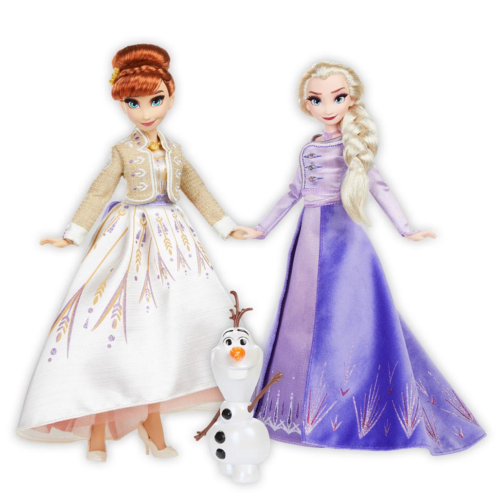 겨울왕국 2 딜럭스 패션 엘사 안나 올라프, 27.5cm, 혼합색상