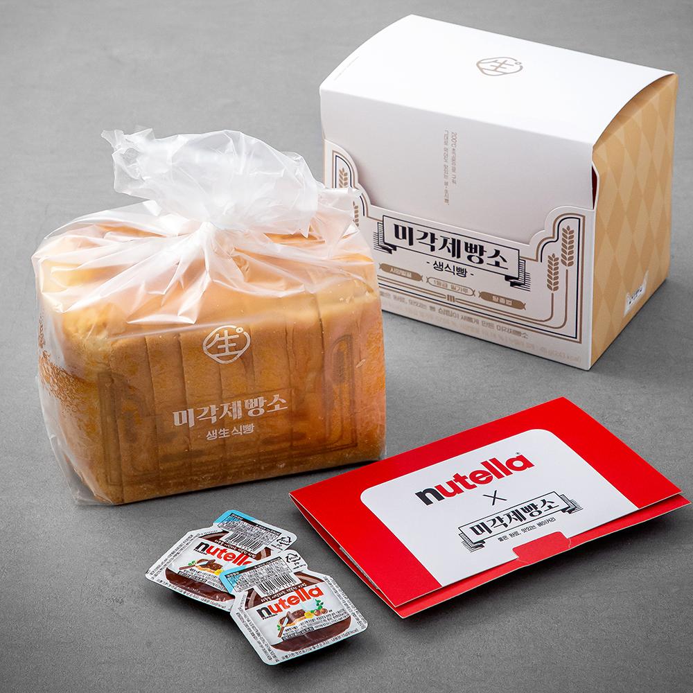 미각제빵소 생식빵 500g + 누텔라 15g x 3p, 1세트