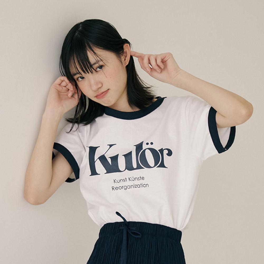 리올그 여성용 KUL PRINTING RINGER 반팔 티셔츠