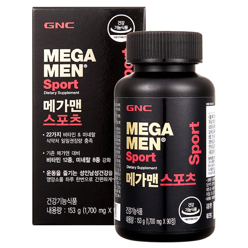 지앤씨 메가맨 스포츠 멀티비타민, 90정, 1개
