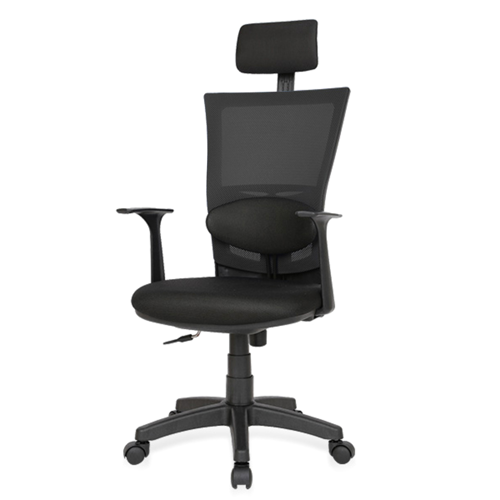 체어포커스 쿨링스퀘어 CQ4 대요추 의자헤더형 의자, 블랙