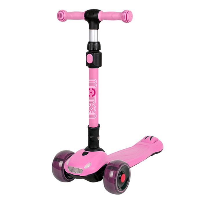 랜드웨이 아동용 모션 LED카 스쿠터, 핑크