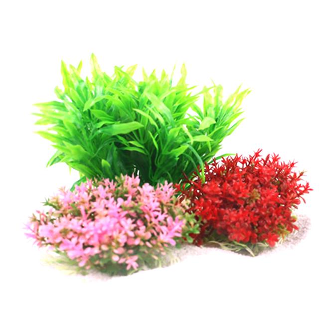 모비딕 수족관 장식용 인조수초 레이아웃세트 A, 혼합색상, 1세트