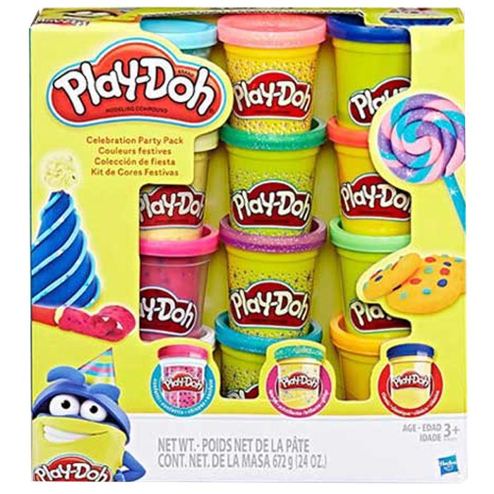 플레이도우 셀러브레이션 파티 믹스팩, 혼합 색상, 998g