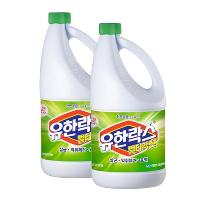 유한락스 멀티액션 후레쉬 락스, 1.8L, 2개