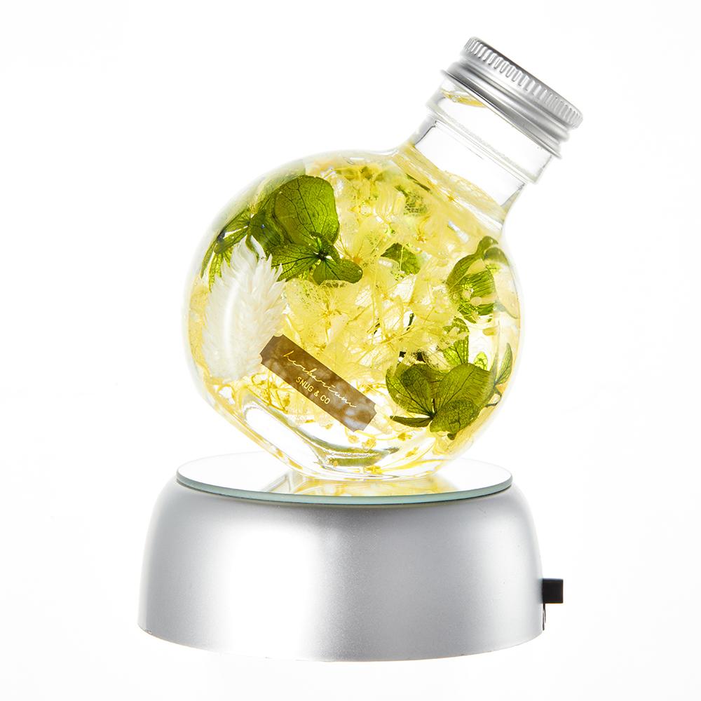 스너그앤코 하바리움 써클보틀 + LED조명코스터 무드등, 옐로우수국