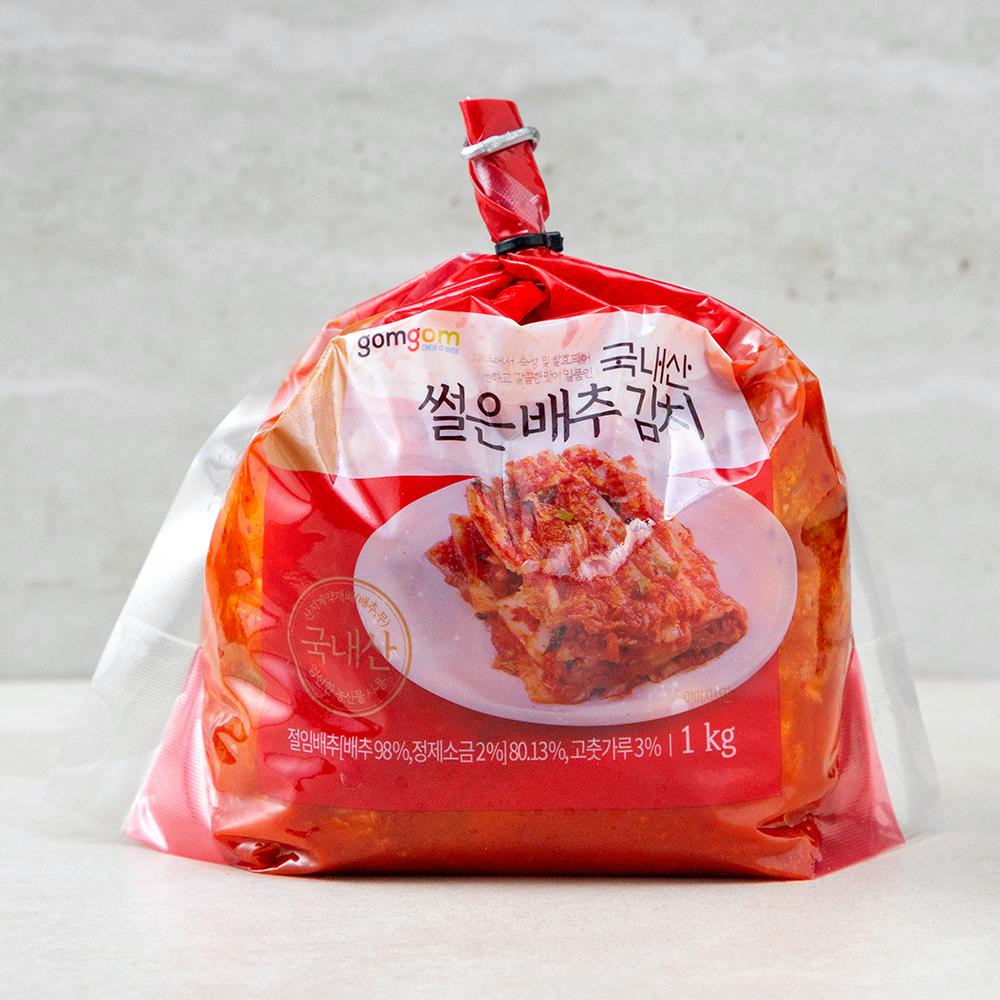 곰곰 국내산 썰은 배추 김치, 1kg, 1개