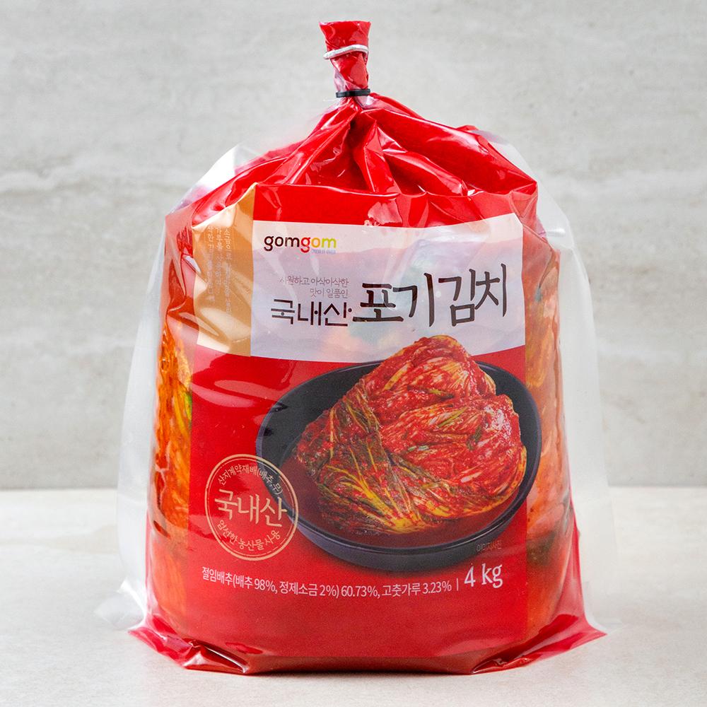 곰곰 국내산 포기 김치 (냉장), 4kg, 1개