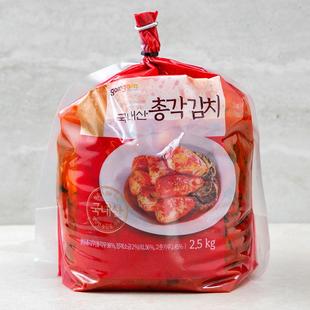 곰곰 국내산 총각 김치, 2.5kg, 1개