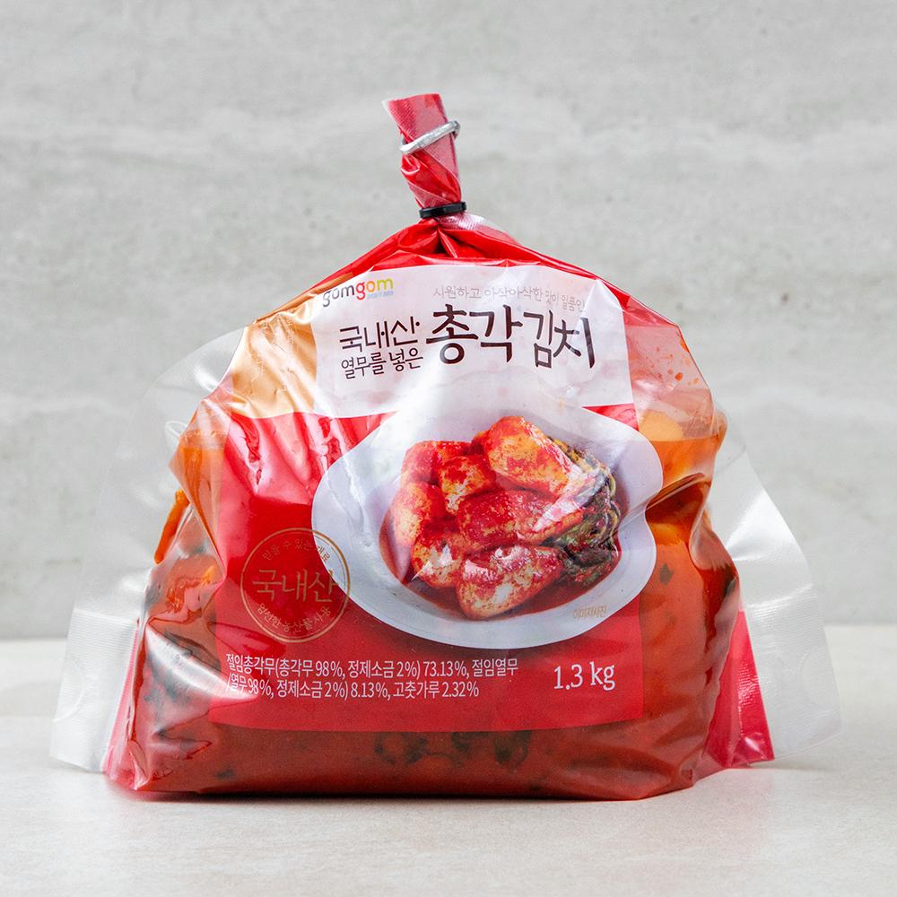 곰곰 열무를 넣은 총각 김치, 1.3kg, 1개