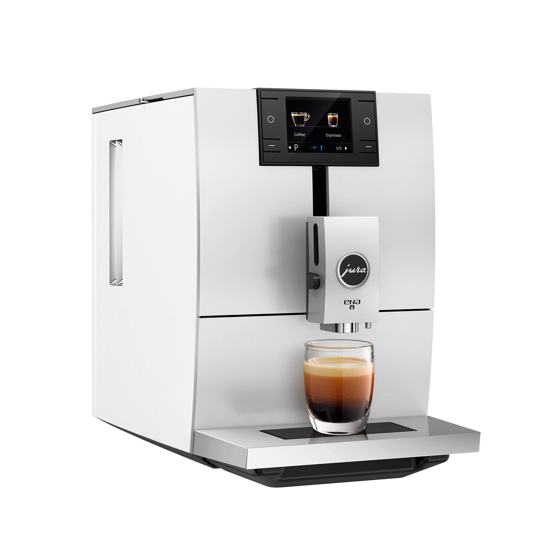 유라 전자동 커피머신 1.1L 125g, ENA8(Nordic White)