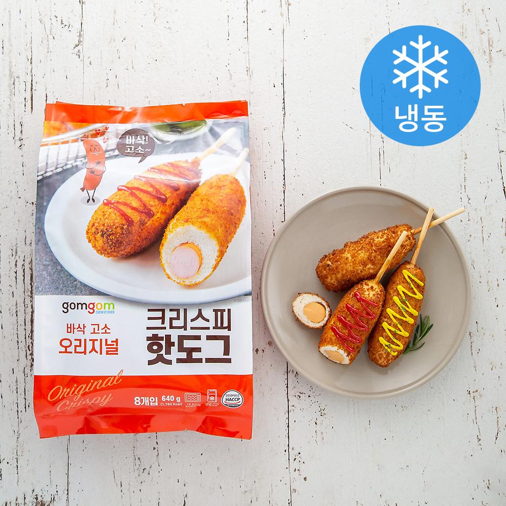 곰곰 크리스피 핫도그 (냉동), 640g, 1개