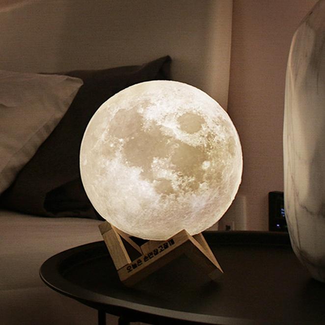 선진 7색 달 중형 무드등, 혼합 색상