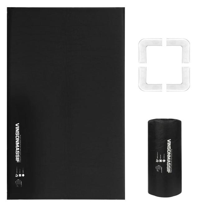 빈슨메시프 프리미엄 자충 에어매트 2인용 블랙에디션 + 보관가방 + 필로우 홀드 패드, ALL BLACK