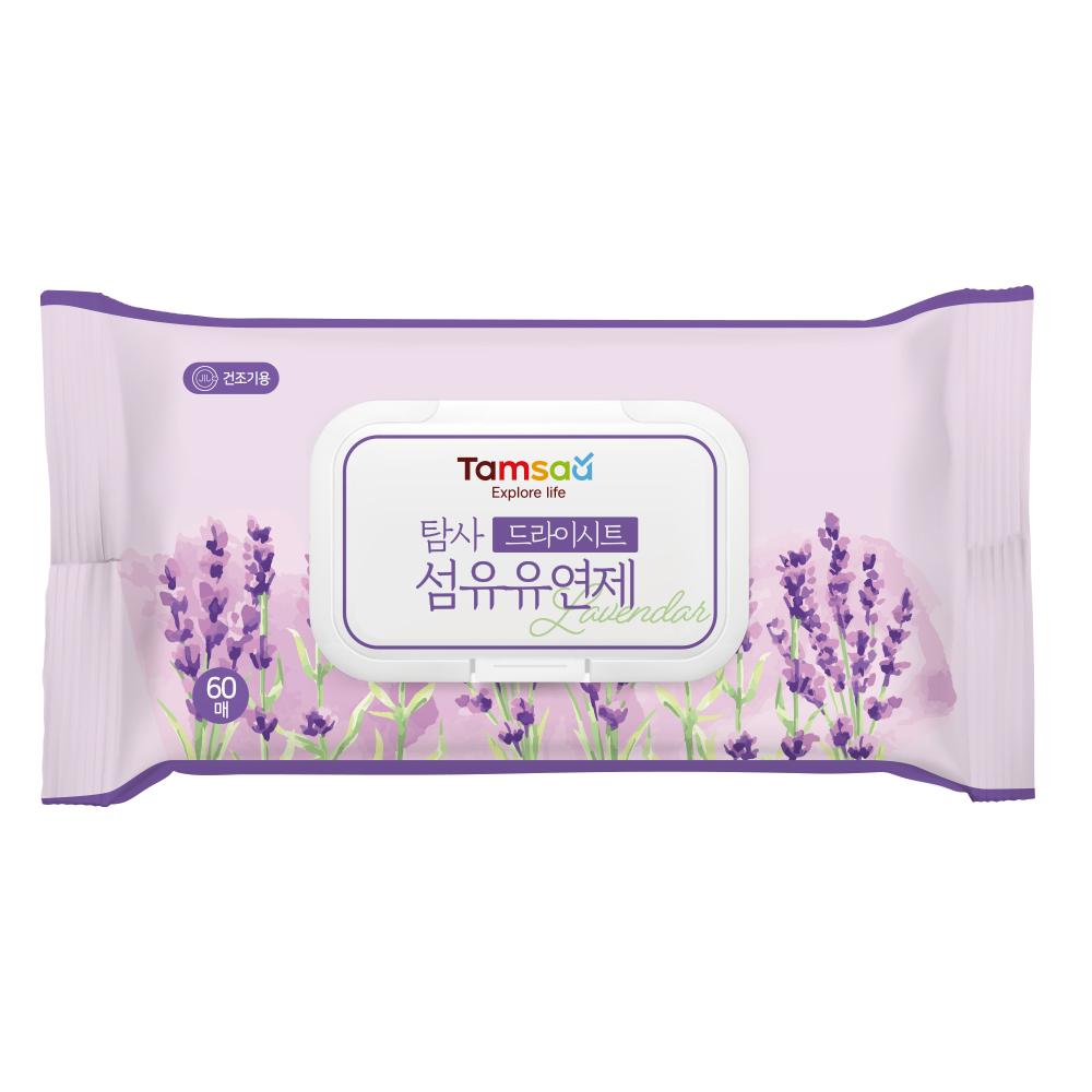 탐사 드라이시트 섬유유연제 라벤더 60매, 1팩