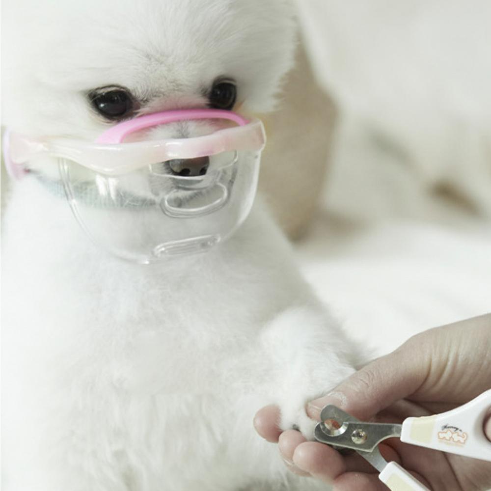 루브립 마우스핏 강아지 투명 입마개, DCM-B-PK(베리 핑크), 1개
