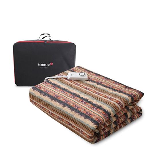 보국전자 라이언킹 캠핑 전기요 BKB-0654K + 보관 가방, 혼합색상, 특대형(킹 180 x 200 cm)