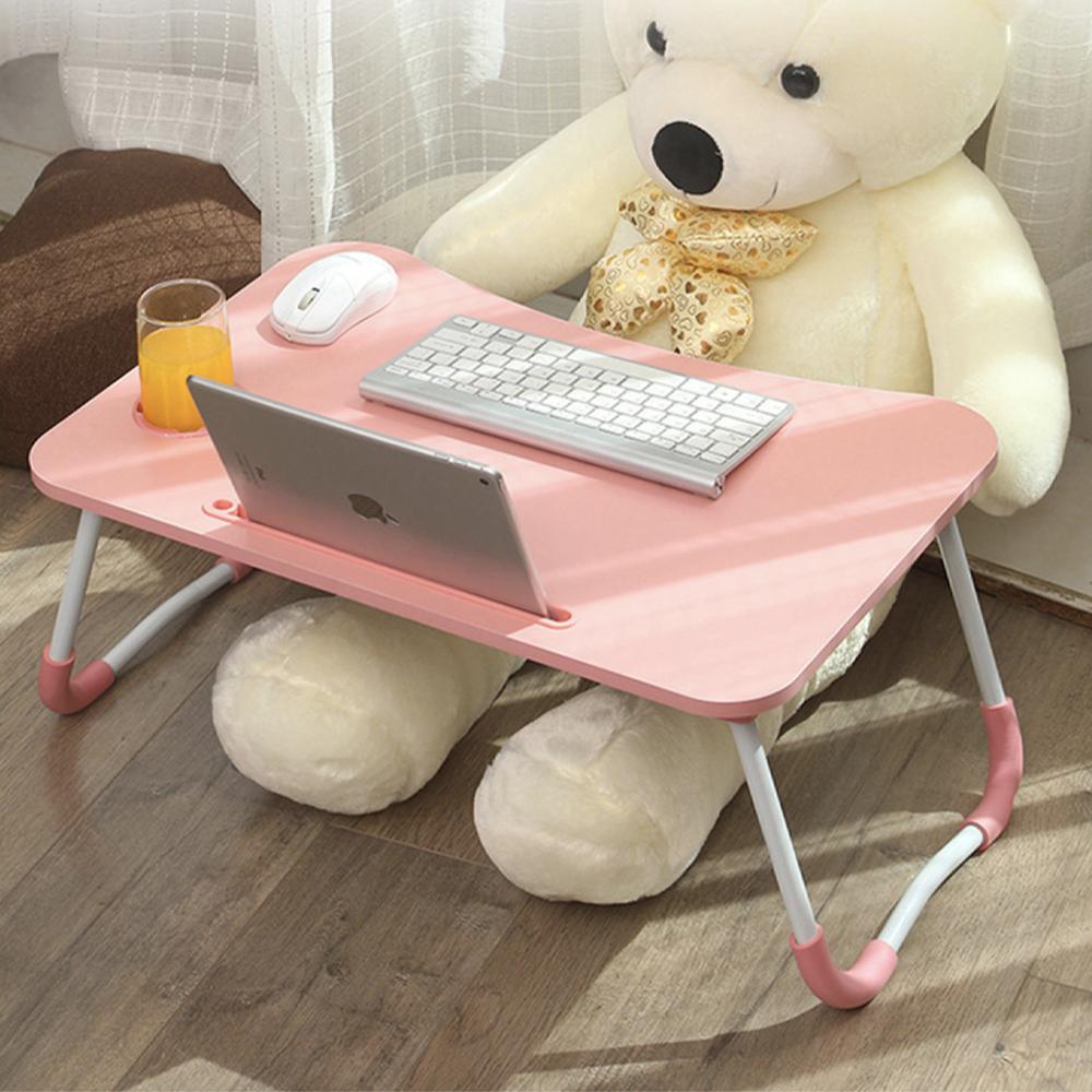 엠지 접이식 노트북 테이블 고급형, 핑크