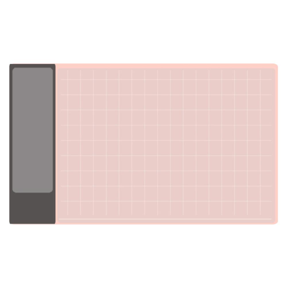 토비메모리 와이드데이 데스크매트, 핑크 + 그레이