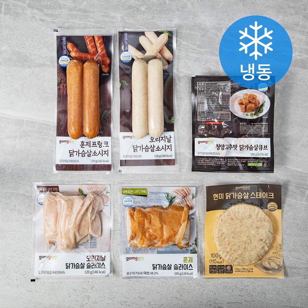 곰곰 닭가슴살 6종 (냉동), 1세트