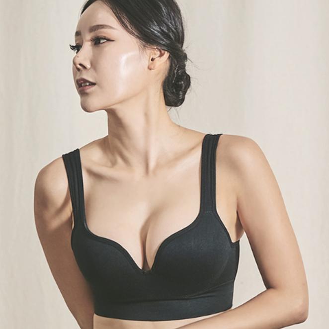[여성패션] 글램브라 와이드 심플 노와이어브라 - 랭킹74위 (9500원)