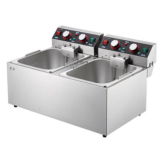 델키 업소용 스마트 대용량 2구 전기튀김기, DK-262