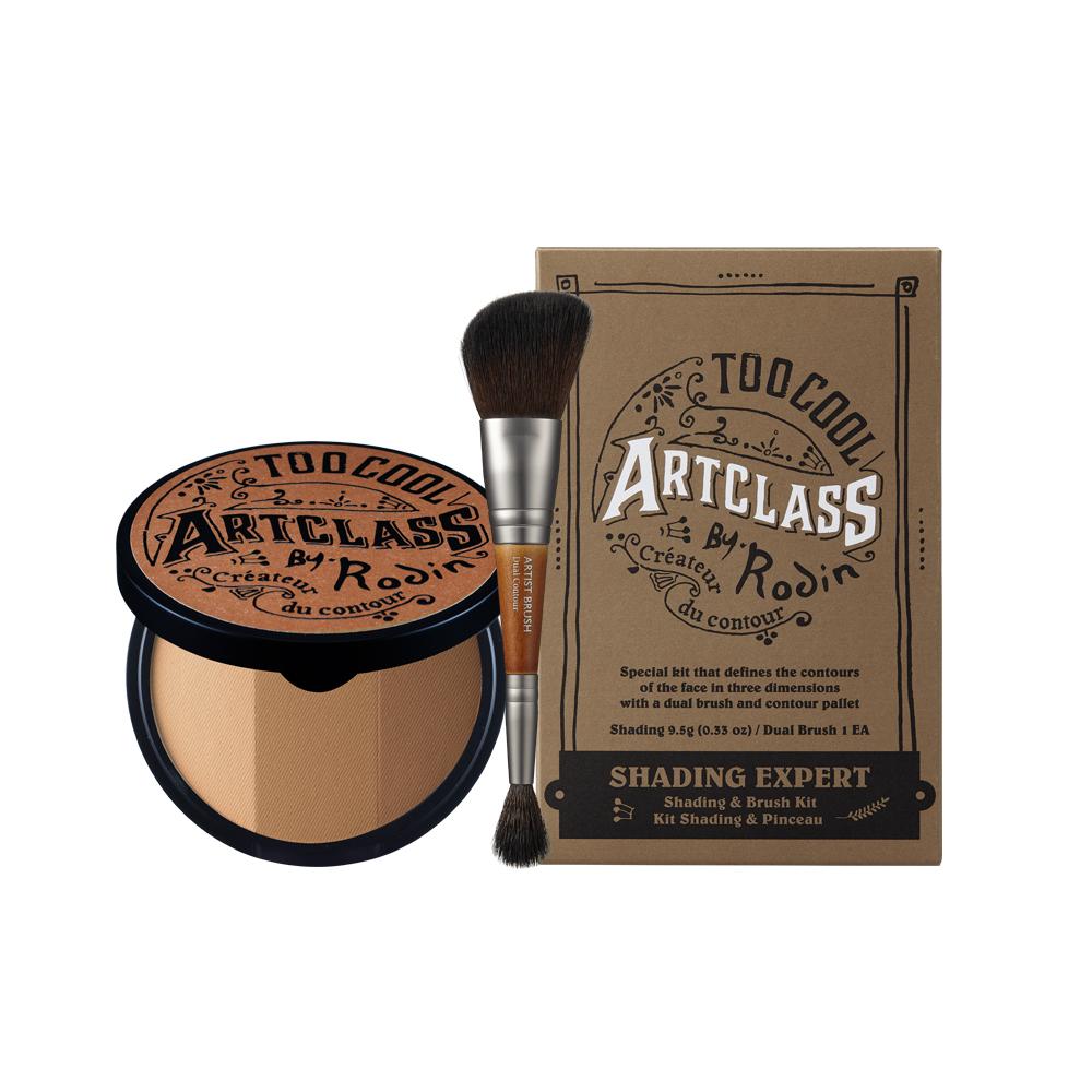 투쿨포스쿨 아트클래스 바이로댕 쉐딩 9.5g + 듀얼 컨투어 브러쉬, 혼합 색상, 1세트