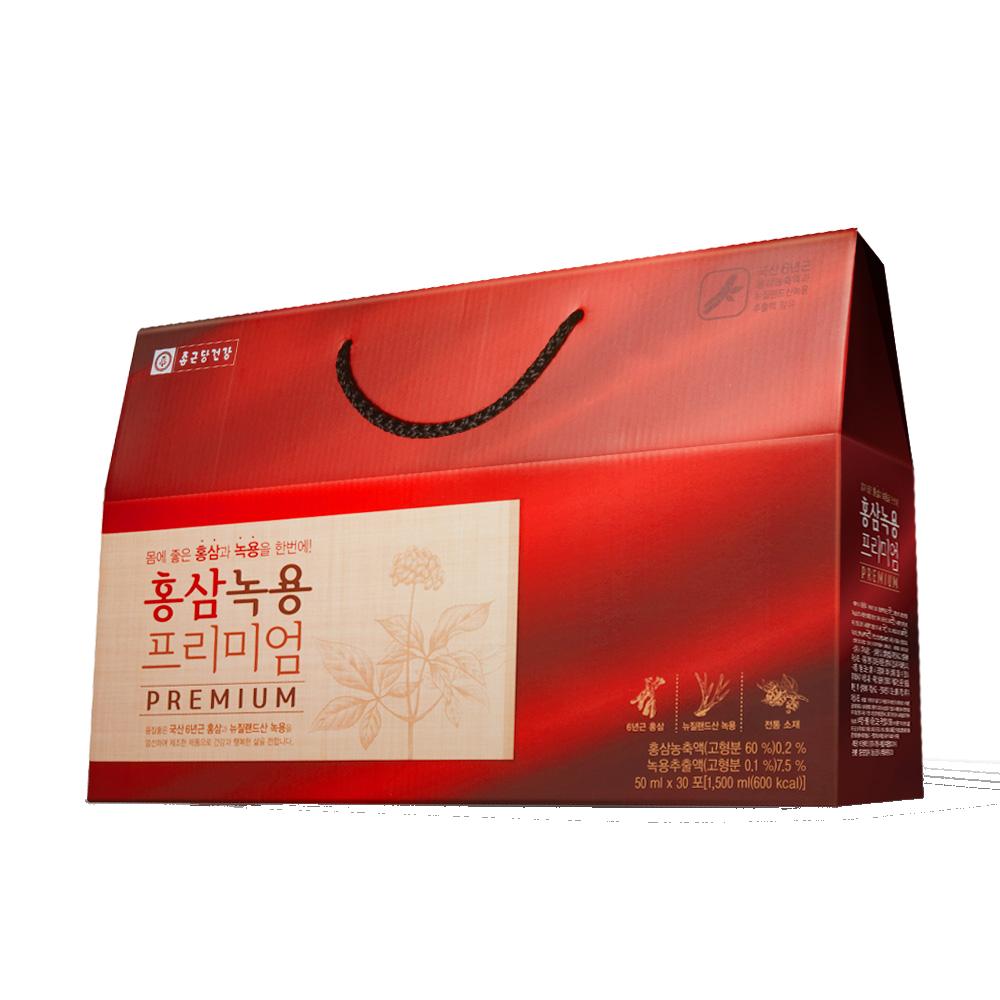 종근당건강 홍삼녹용 프리미엄, 50ml, 30포