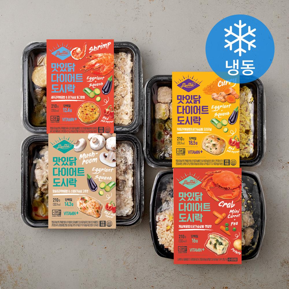 [냉동 도시락] 맛있닭 다이어트 도시락 4종 세트 (냉동), 1세트 - 랭킹24위 (16500원)
