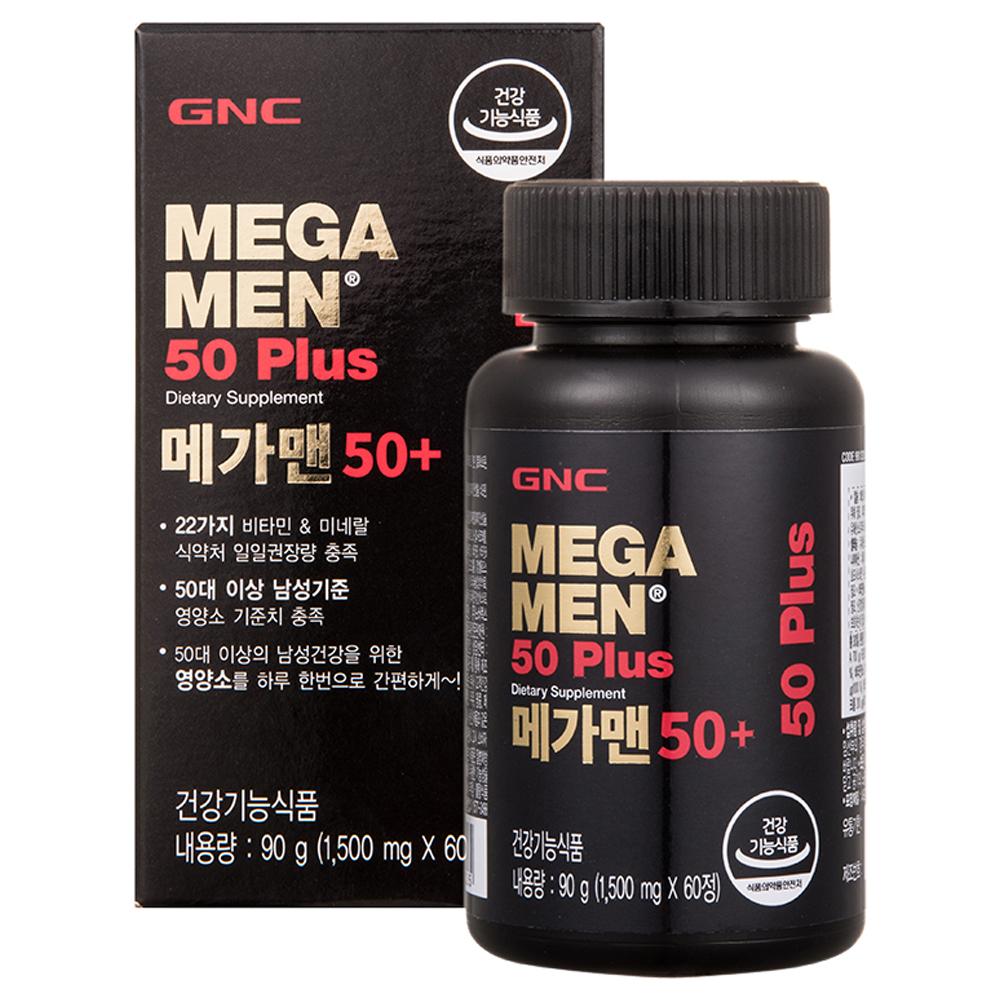 지앤씨 메가맨 50+ 멀티비타민, 60정, 1개