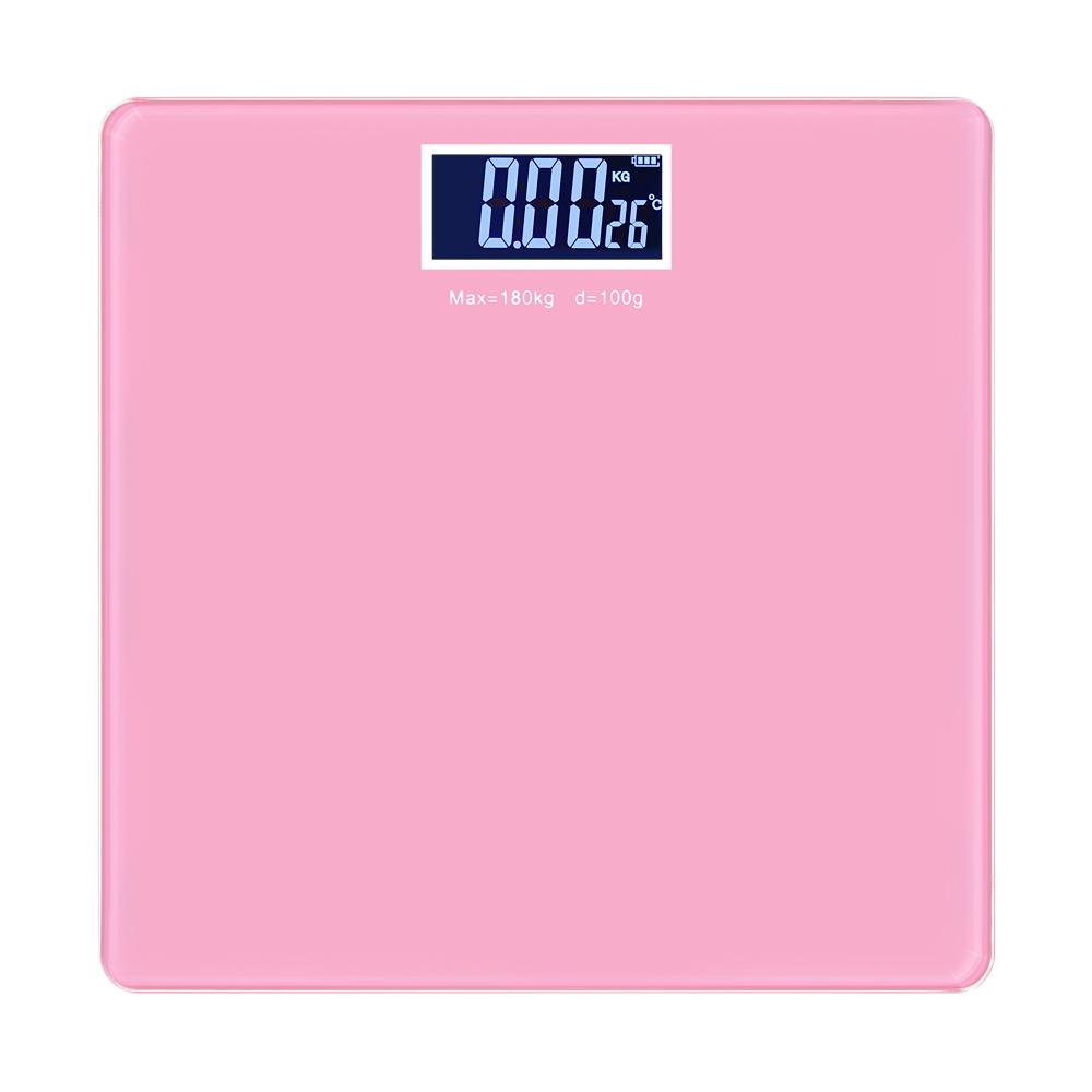 노바리빙 컬러 백라이트 사각 체중계, 핑크