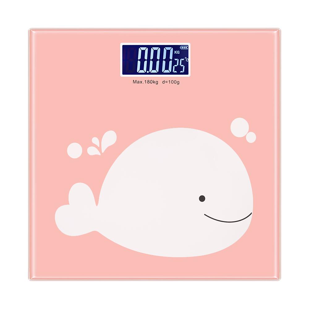 노바리빙 LCD 캐릭터 체중계, 단일 상품, 고래