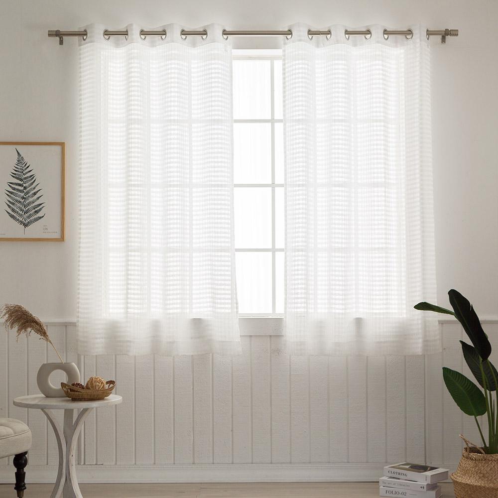 비에이치에프 코코체크 창문형 레이스커튼 2p, 화이트