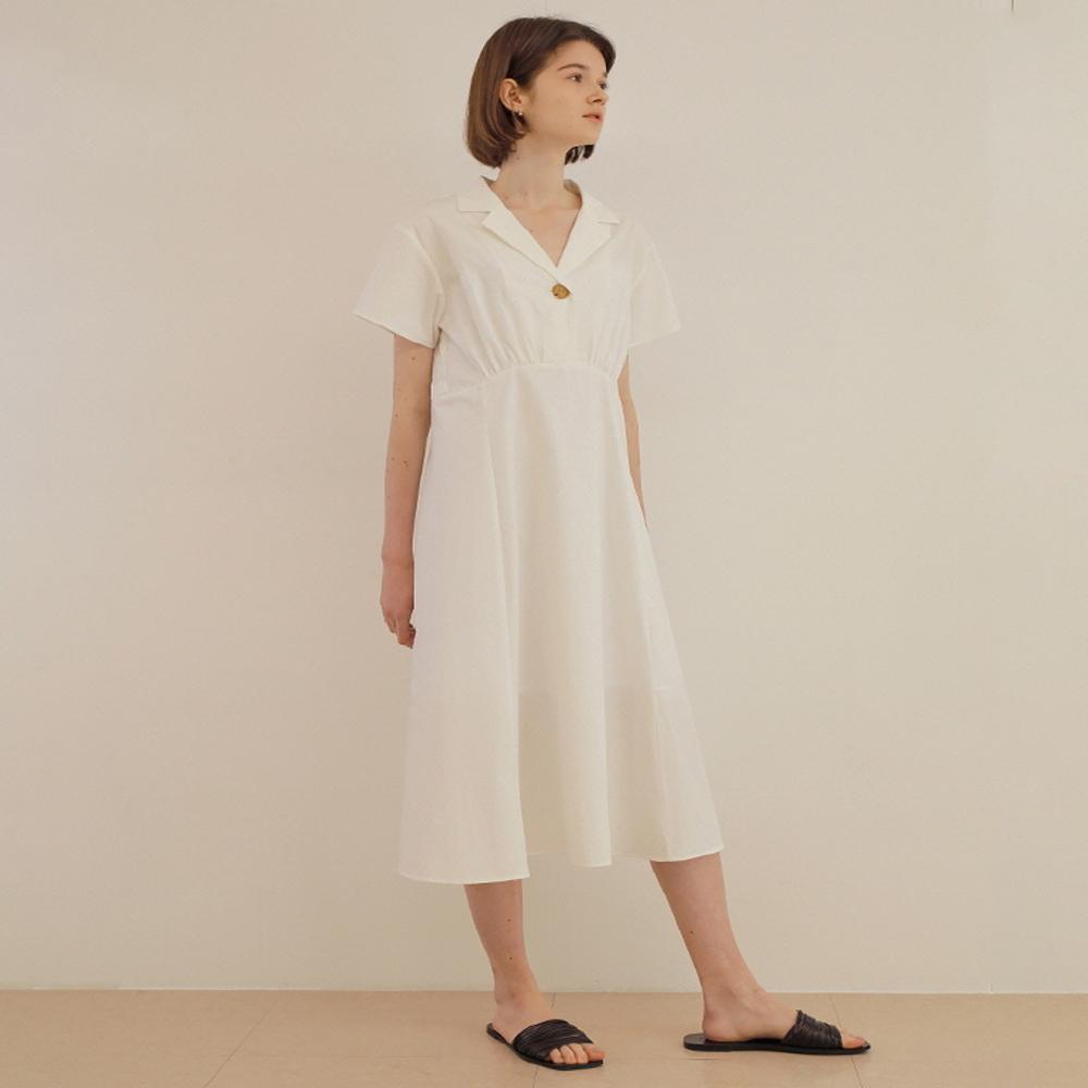 어몽 A OPEN COLLAR SHIRT DRESS
