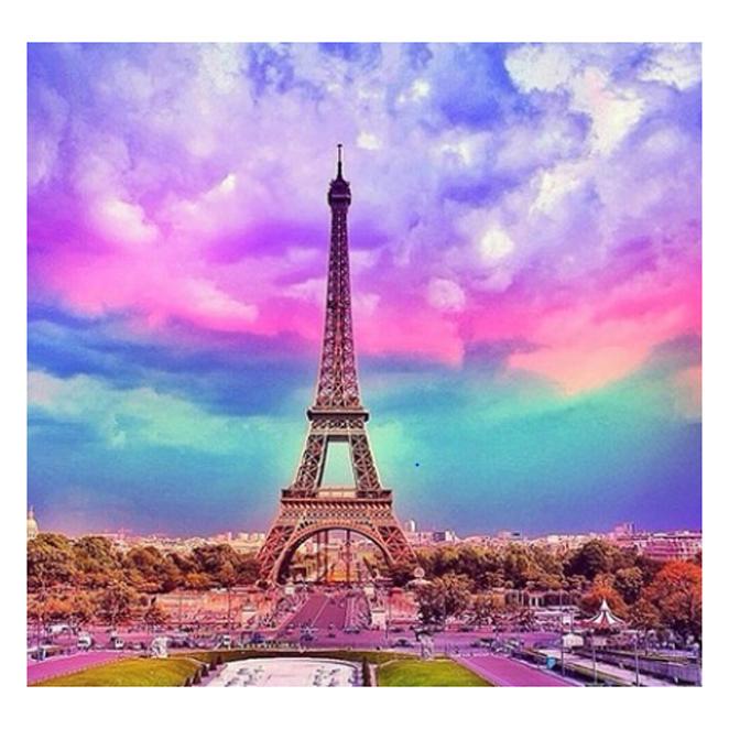 케이엠엘리 3D 에펠탑 보석십자수 30 x 30 cm, 혼합색상, 1개
