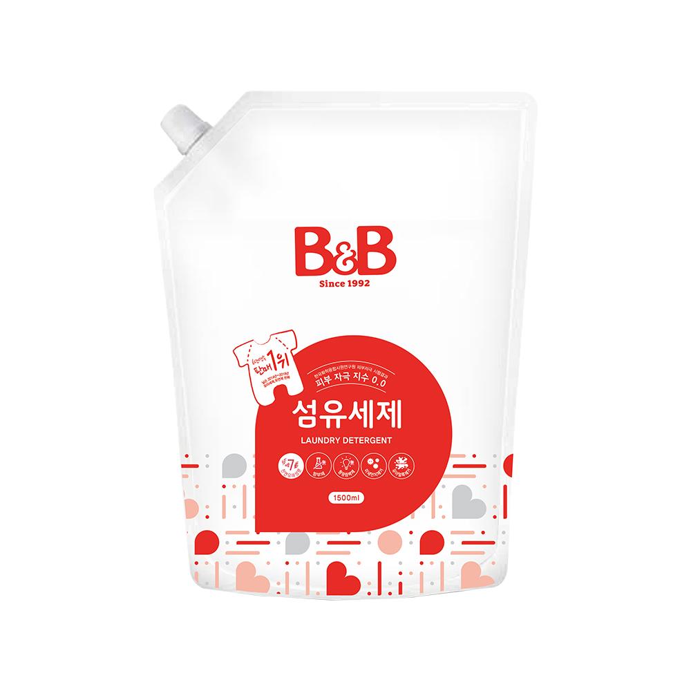 비앤비 섬유세제 1500 ml 리필, 1개