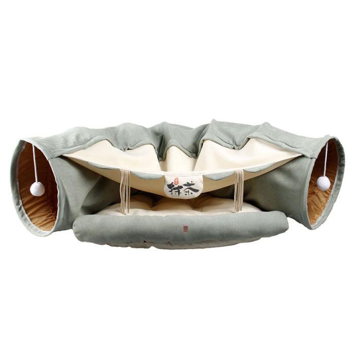 딩동펫 반려동물 고양이 숨숨 동굴형 터널하우스, 다방, 1개