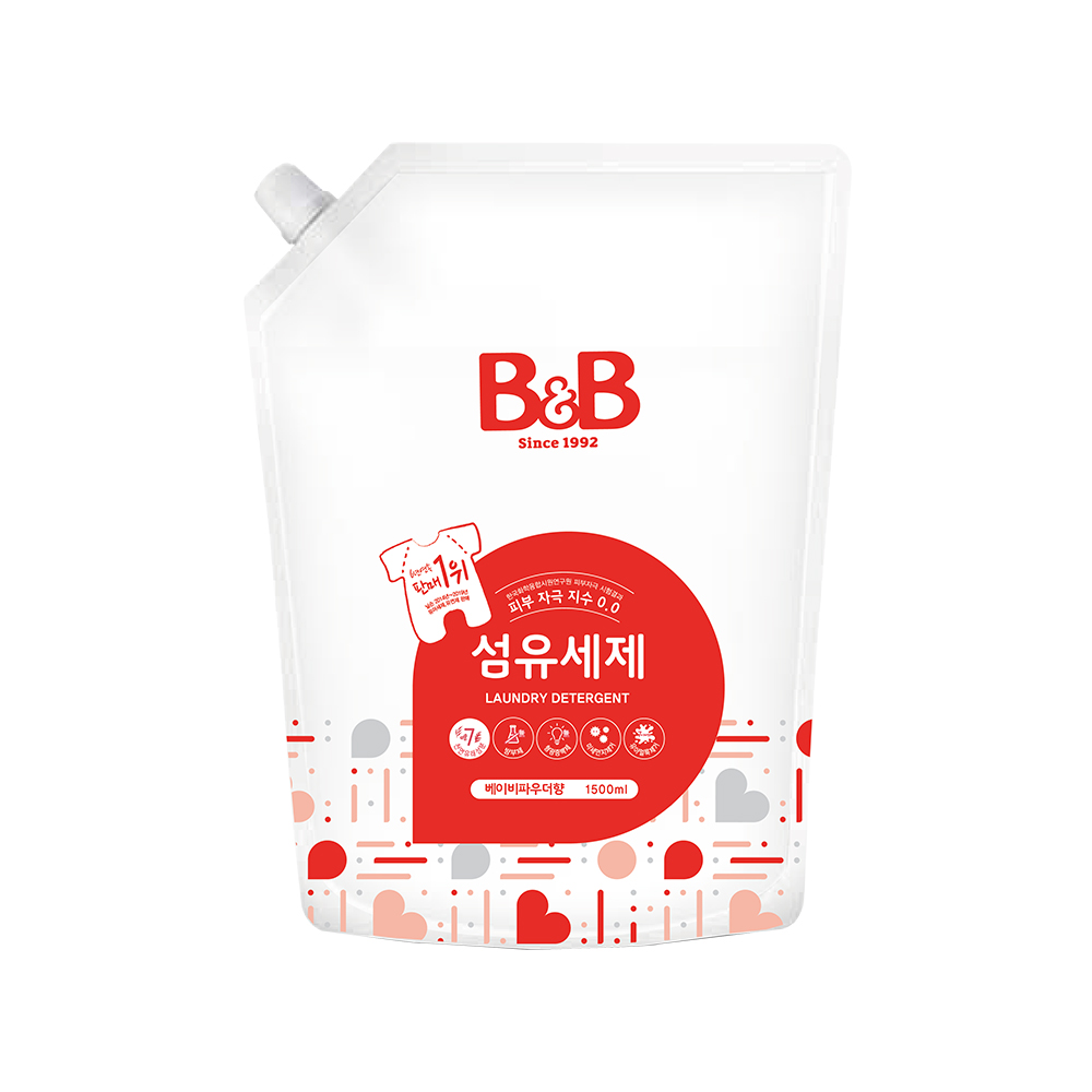 비앤비 섬유세제 캡리필 베이비파우더향 1500ml, 1개