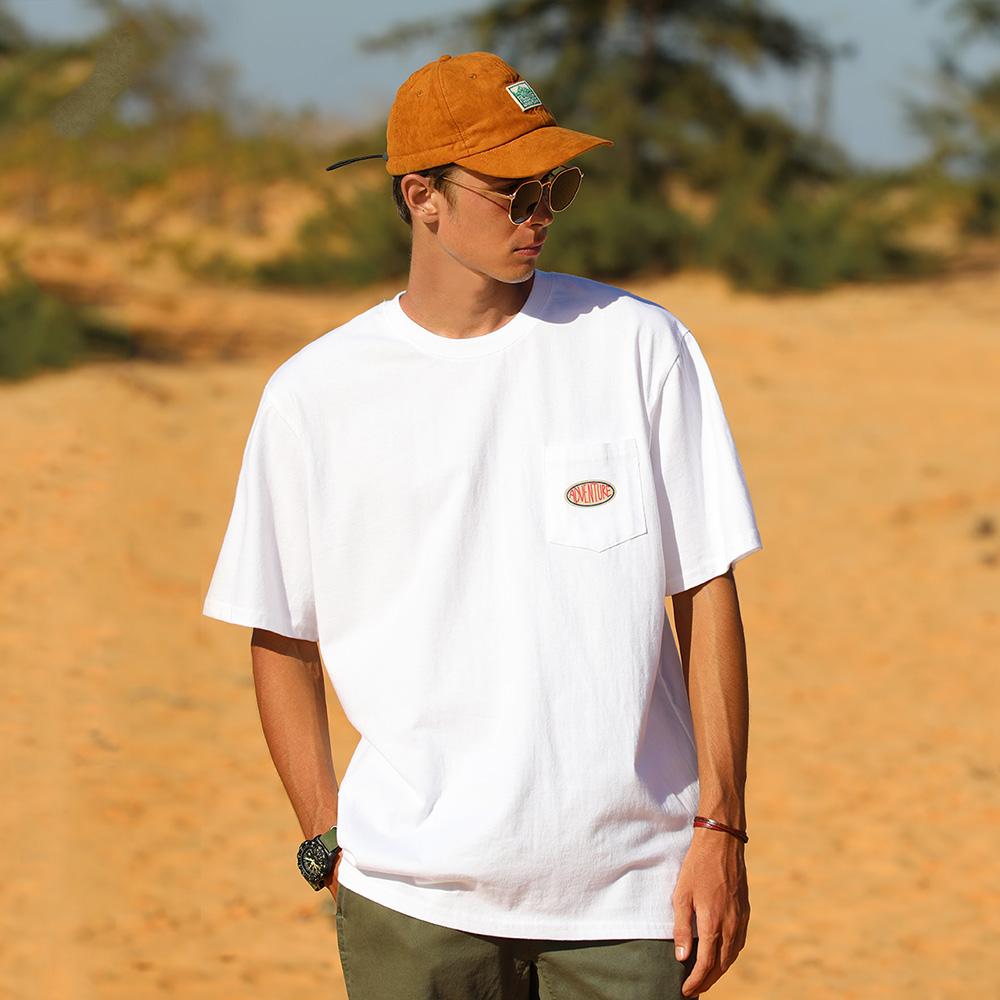 플루크 남여공용 어드벤쳐 트럭커 포켓 반팔 티셔츠 FST141