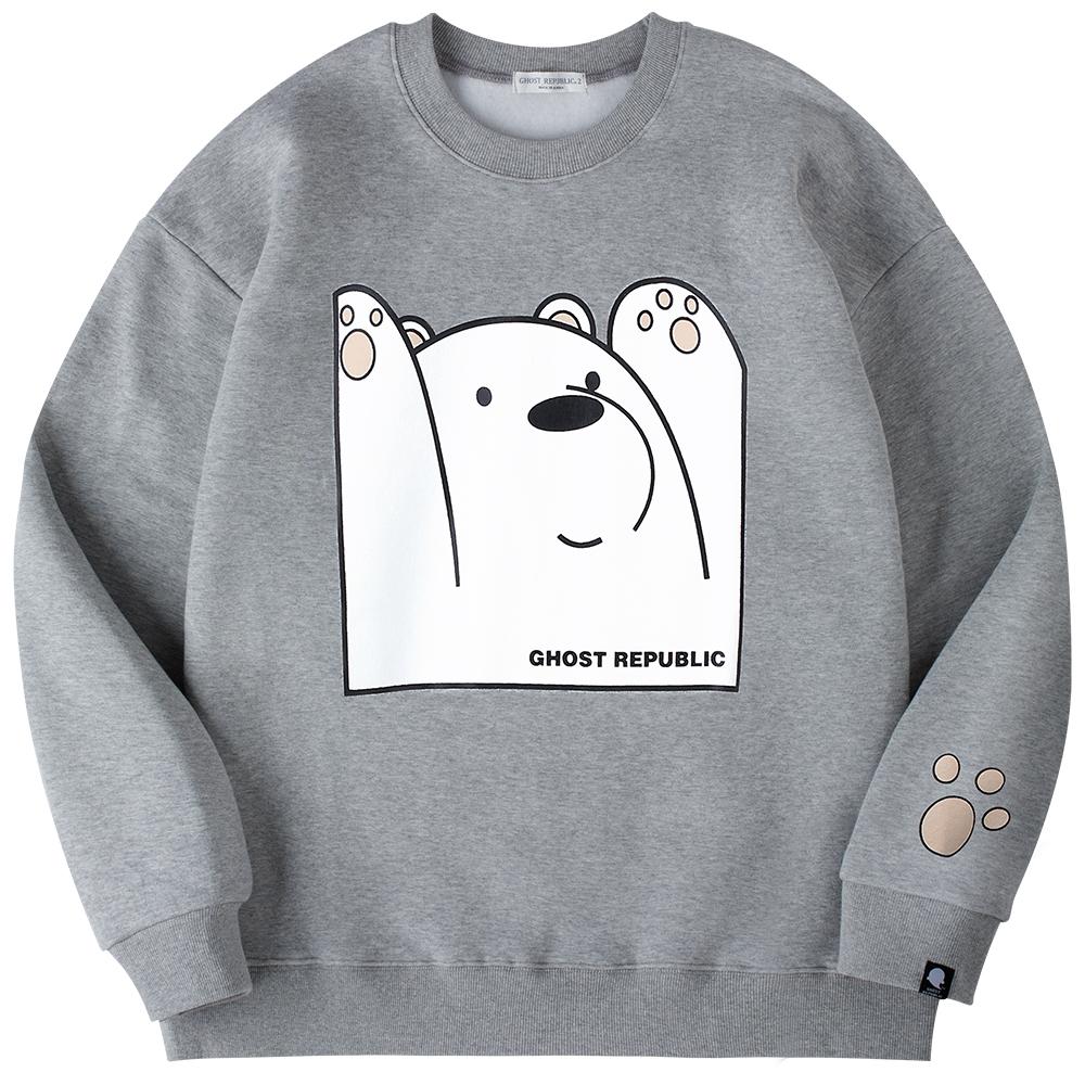 고스트리퍼블릭 베어 프린팅 오버핏 맨투맨 티셔츠 GMT-187