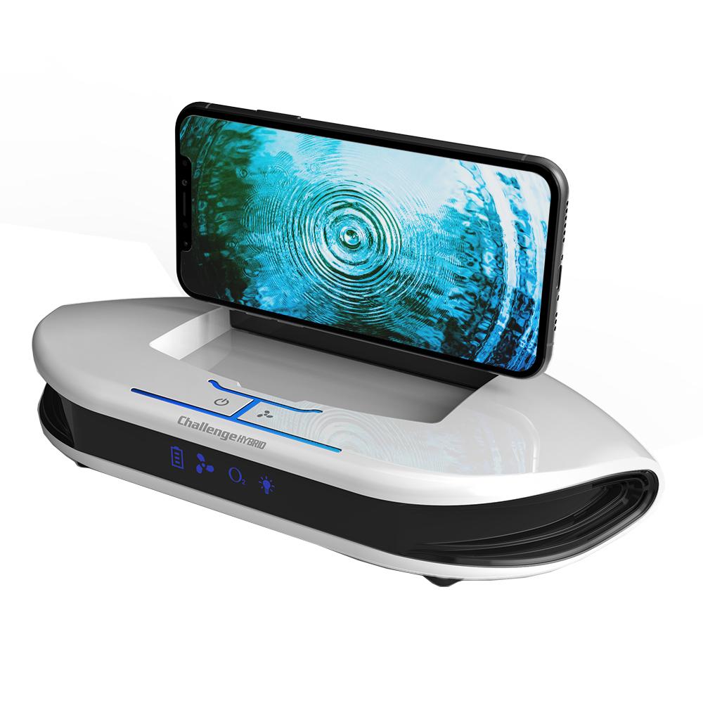 챌린지하이브리드 퓨어 차량용 공기청정 휴대폰 거치대 화이트, CH-AIR522C (POP 310754074)