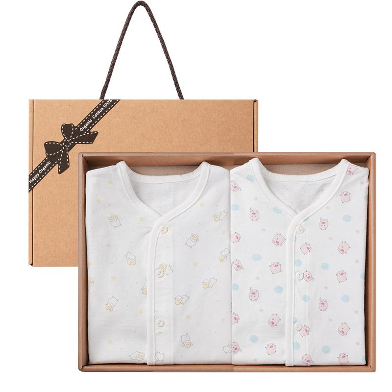 해피오가닉 여름 베이비램 반팔 내의 2종 선물 세트