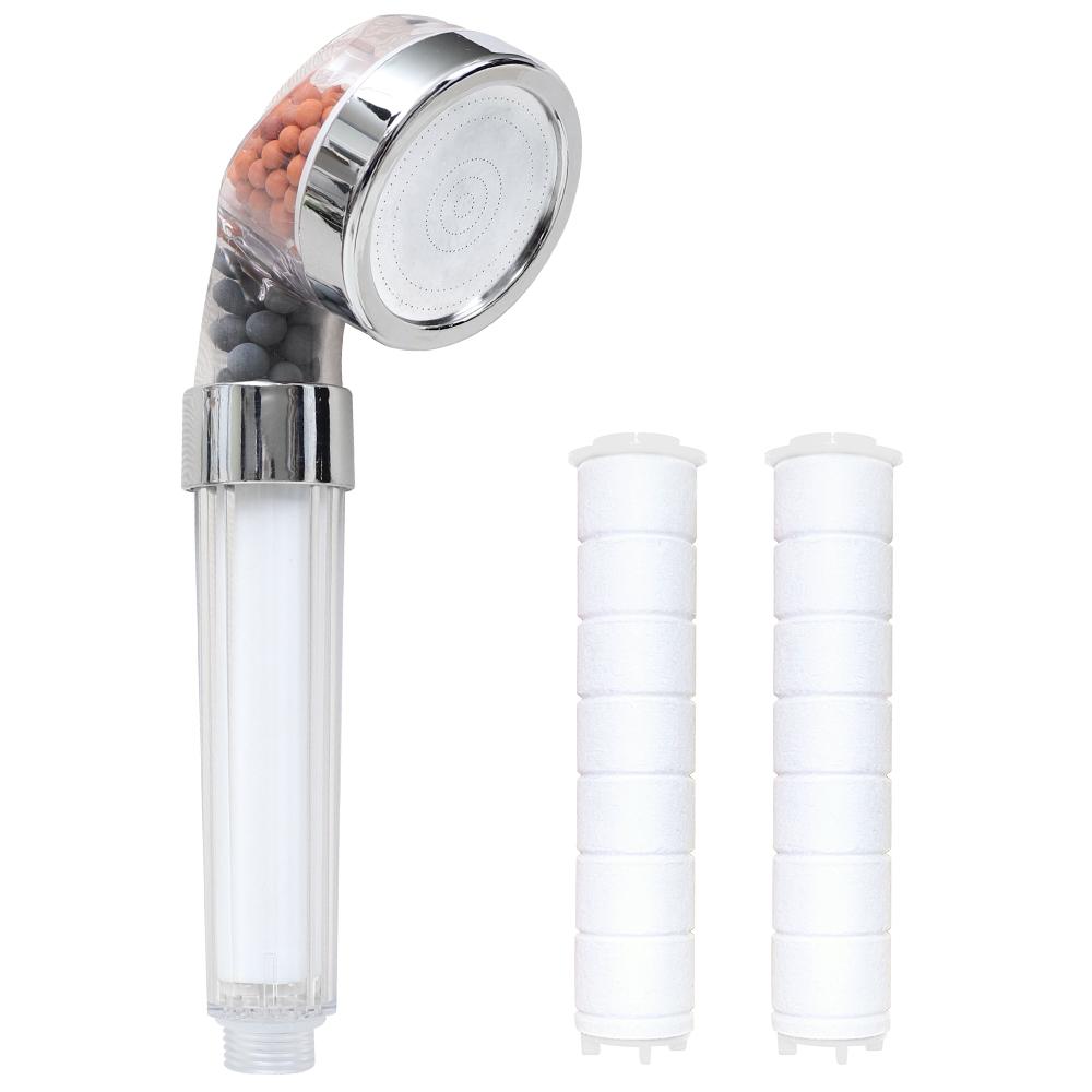 스파온 마이크로 퓨어 필터 정수 샤워기 소 + 필터 2p, 1세트
