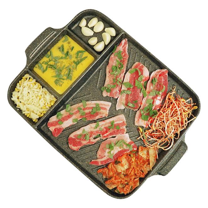 퀸센스 안심 멀티 고기 구이팬 특대, 47 x 34 cm, 1개