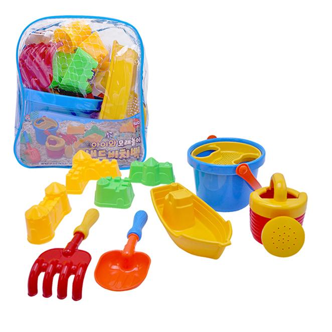 비앤씨 샌드비치백 가방모래 놀이세트, 혼합 색상