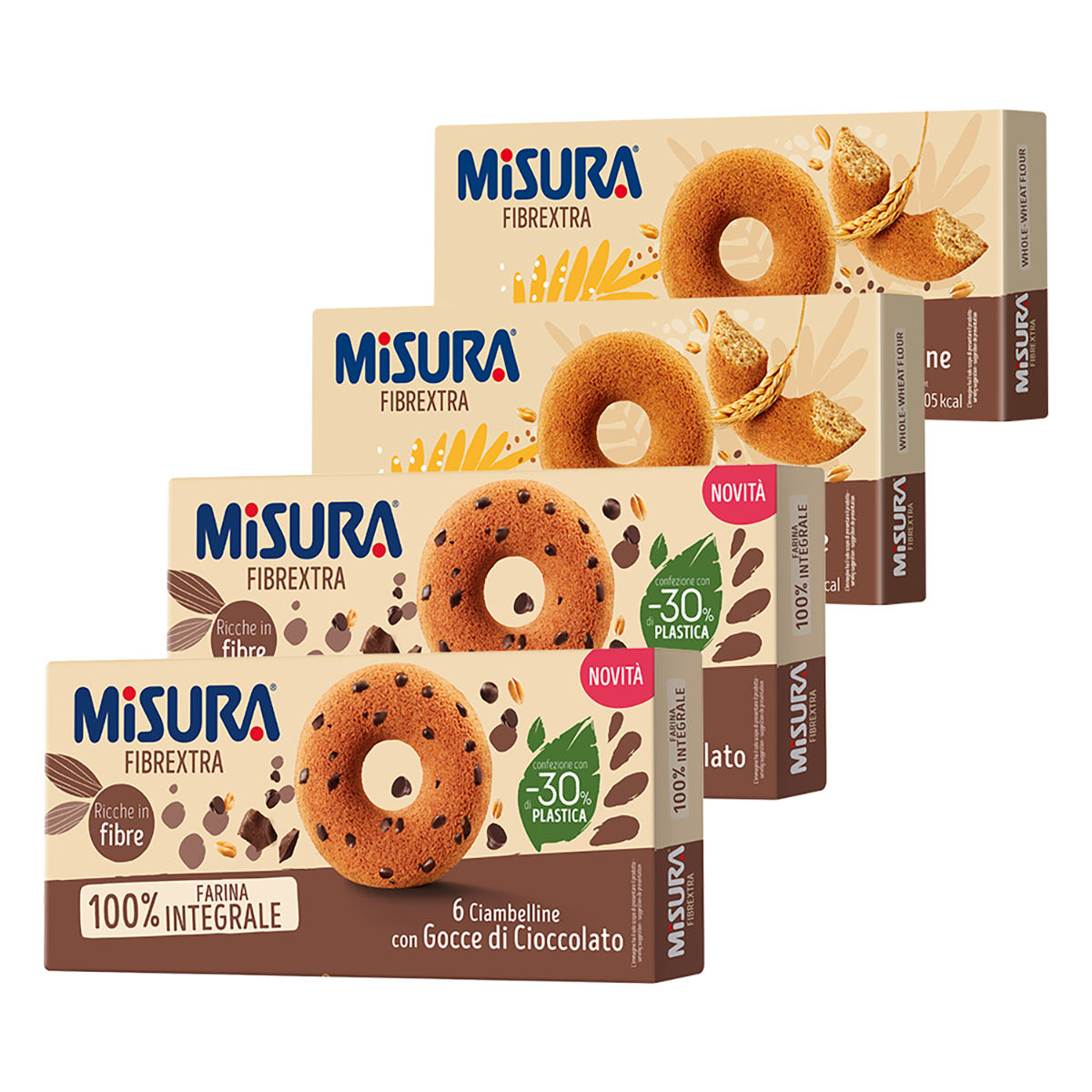 미주라 통밀도넛츠 230g x 2p + 초코칩 통밀 도넛츠 230g x 2p, 1세트